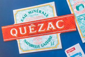 Anciennes étiquettes de l'Eau Minérale de Quézac